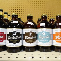 Bottles and Labels for a few North Peak Brewing Company Craft Beers