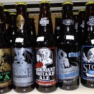 lineup of several great Stone beers
