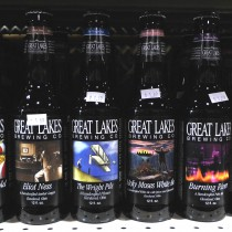 straight on shot of several great lakes brewing co. beers