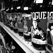 Rogue Beers on shelve including Dead Guy Ale