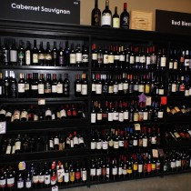 huge selection of wine