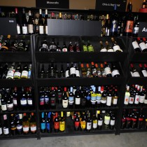 selection of wines from Austrailia on shelves in our Wine Cellar