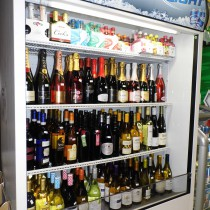 chilled wines in cooler