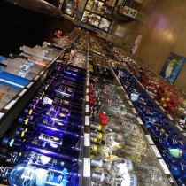 Shelves of various different Vodkas we sell