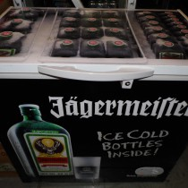 our ice cold Jagermeister Freezer