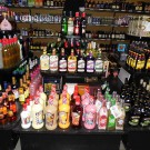 Display setup for some of our Cordial and Liquor Mixes