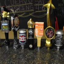 Taps from some of the best Craft Beer we sell by the Growler